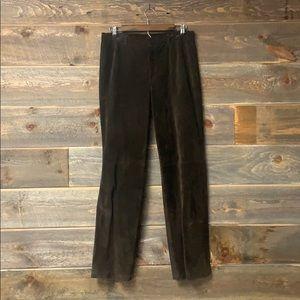 Vintage Nine West Suede Leather Pants